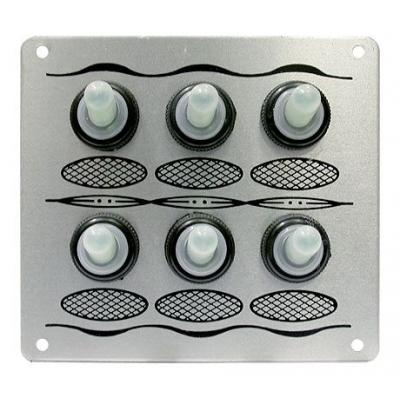 Панель, 6 тумблеровв силиконовых колпачках, без предохранителей