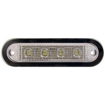 Светильник светодиодный прямоугольный, IP66, 12/24 В, 90x24,7x14,3 мм