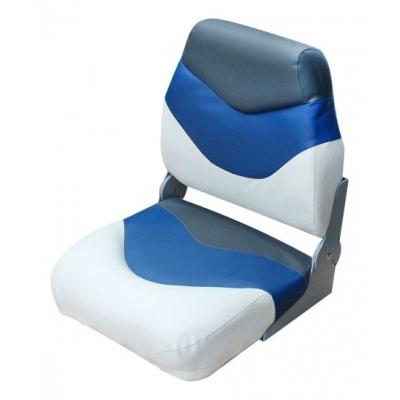 Сиденье Premium folding белое с синим и темно-серым