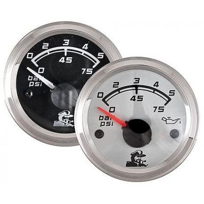Указатель давления масла 0-5 Bar, белый циферблат
