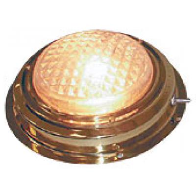 Накладной плафон освещения в латунном корпусе.