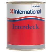 Палубная краска «INTERDECK», 750 мл, кремовая.