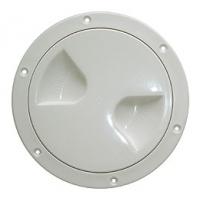 Смотровой лючок, белый, пластик, 102 мм.