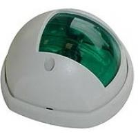 Бортовой огонь «Compact 12», зеленый, белый пластик, 80 мм.