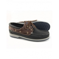 Яхтенные туфли «Commander», темно-синие с коричневым, размер 36