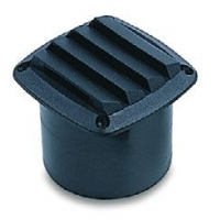 Вентиляционная решетка с патрубком, черный пластик 86mm(L) x 86mm(W) x 80mm(H)