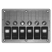 """Панель выключателей """"Marina"""", 6 клавиш, плавкие предохранители"""