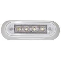 Светильник светодиодный прямоугольный, IP66, 12/24 В, 110x37x16 мм