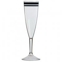Бокалы для шампанского прозрачные «Cannes», 5,2х22 см, 6 шт