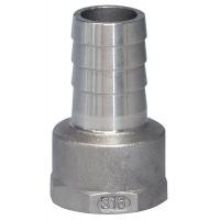 Патрубок под шланг с внутренним диаметром 15 мм, внутренняя резьба 3/8 дюйма