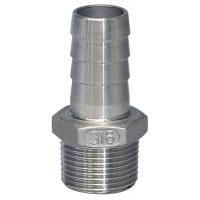 Патрубок под шланг с внутренним диаметром 10 мм, наружная резьба 3/8 дюйма