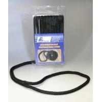 Плетеный швартовный конец, 9,5 мм x 3 м, черный