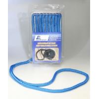 Плетеный швартовный конец, 9,5 мм x 3 м, синий