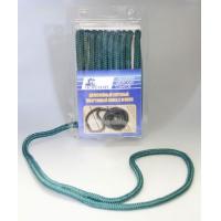 Плетеный швартовный конец, 9,5 мм x 4,5 м, зеленовато-голубой