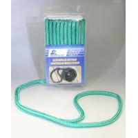 Плетеный швартовный конец, 9,5 мм x 4,5 м, зеленый