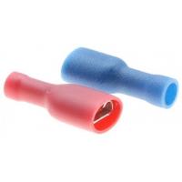 Клемма ножевая изолированная, красная, под провод 0,25-1,5 мм