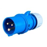 Вилка брызгозащищенная (IP44), 3 контакта, 16А, 230V