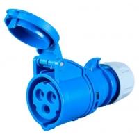 Розетка брызгозащищенная (IP44), 3 контакта, 16А, 230V, монтаж на кабель