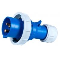 Вилка с водонепроницаемым францем (IP67), 3 контакта, 16А, 230V, монтаж на кабель