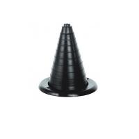Уплотнительная гофра, черная 90Х100 мм