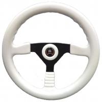 """Рулевое колесо """"Sunbird"""", черные спицы/белый обод."""