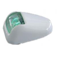 Бортовой огонь LED, зеленый в хромированном корпусе
