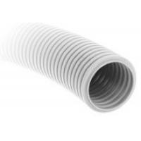 Гофра для кабелей белая, погонный метр