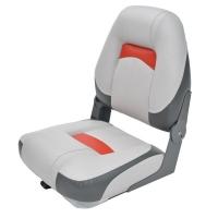 Сиденье Premium Hi-back Qualifier, серое с темно-серым и красным