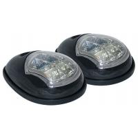 Светодиодные бортовые огни, пара, черный пластик