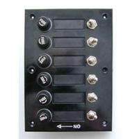 Панель выключателей с предохранителями, 6 тумблеров