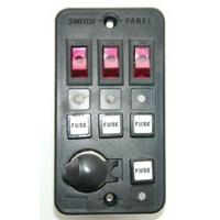 Панель выключателей с 3 клавишами, 4 предохранителями и гнездом под малый штекер
