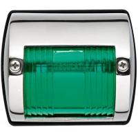 Бортовой огонь «Utility 77», зеленый, нерж. сталь.