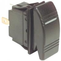 Клавишный выключатель «Marina 2», двухпозиционный, 2 контакта, возвратная пружина.