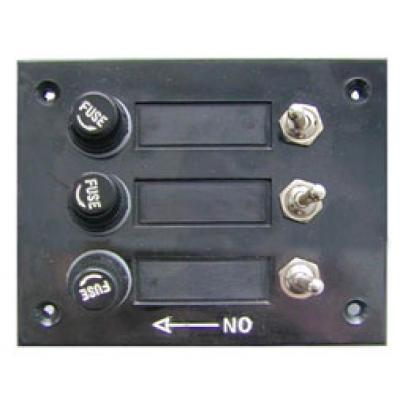 Панель выключателей, 3 тумблера, 3 плавких предохранителя