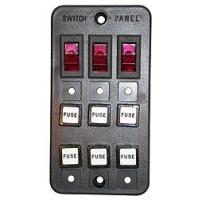 Панель выключателей, 3 клавиши, 6 предохранителей