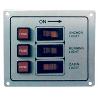 панель, 3 клавиши, 3 предохранителя, белая
