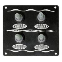 Панель, 4 тумблера в силиконовых колпачках, без предохранителей