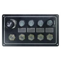 Панель выключателей, 4 тумблера с колпачками, авт. предохр, прикуриватель, алюм