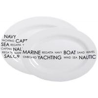 Овальные тарелки «Sea», 30х20, 36х25 см