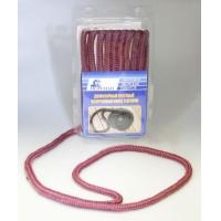 Плетеный швартовный конец, 9,5 мм x 4,5 м, бордовый