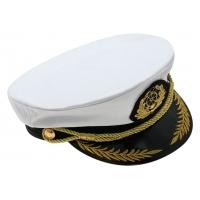 Капитанка Якорь узкий шнур с вышивкой