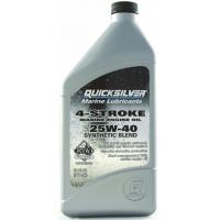 Полусинтетическое масло Quicksilver 25W-40 для 4-тактных подвесных моторов