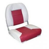 Сиденье Premium low back, серое/красное