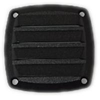 Вентиляционная решетка, черный пластик, 86mm(L) x 86mm(W) x 15mm(H)