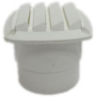 Вентиляционная решетка с патрубком, белый пластик 86mm(L) x 86mm(W) x 80mm(H)