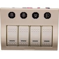 Панель выключателей, 4 клавиши, 4 автоматических предохранителя, белая